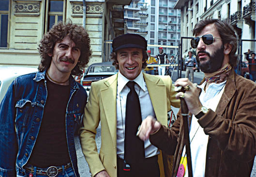 George Harrison, Jackie Stewart, Ringo Starr