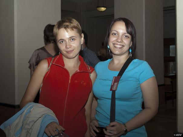 Дама в красном и дама в голубом