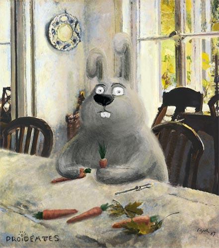 Этот заяц смотрит на вас, как на морковь