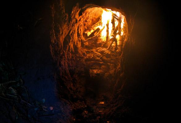 печь из глины для обжига глины