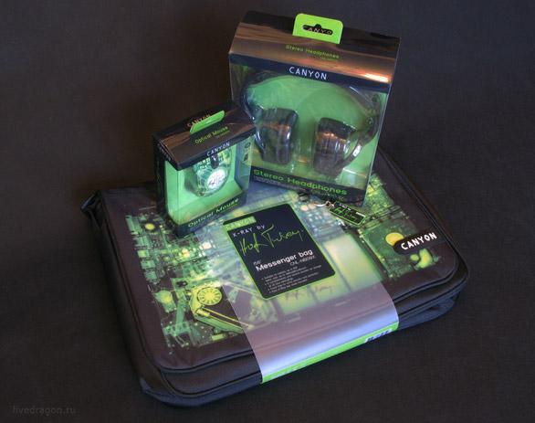 Canyon X-ray - сумка, мышь и наушники от Хью Терви