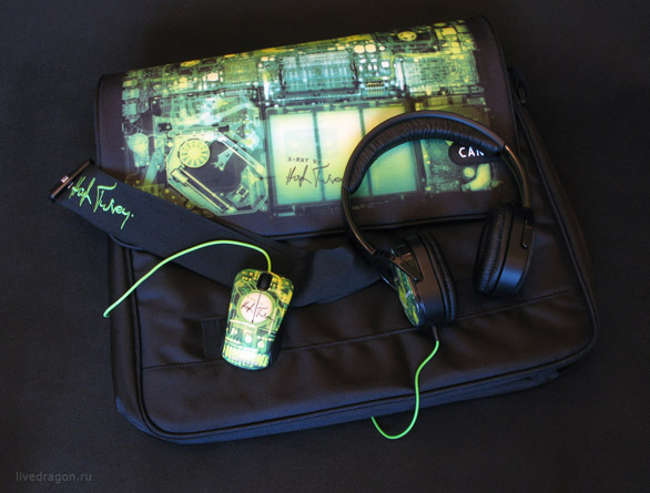 Хью Терви - сумка, мышка и наушники Canyon