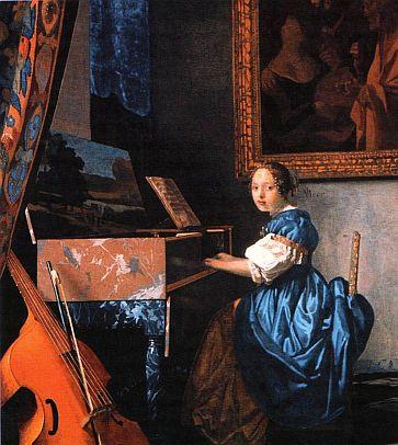 Дама за клавесином