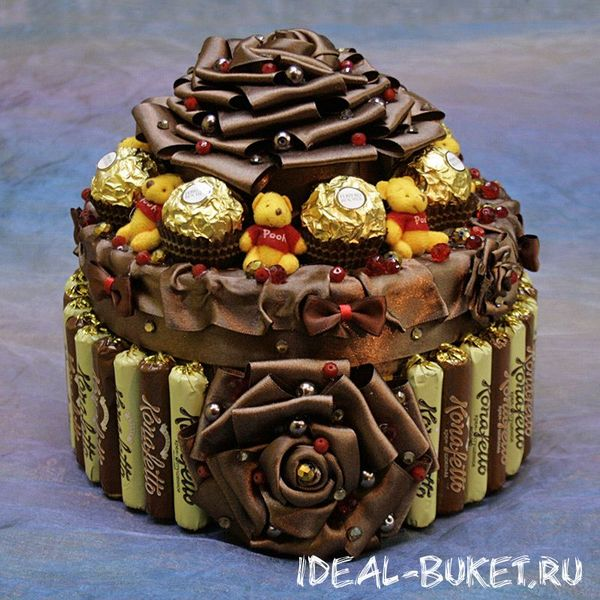 шоколадный торт из конфет алхимия русском