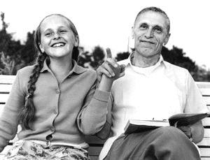 Николай Амосов с дочерью Екатериной