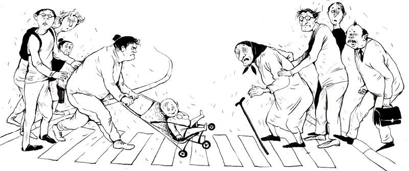 Картинки по запросу пешеход карикатура