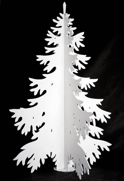 средневековье картинки для вырезания елки объемной темного